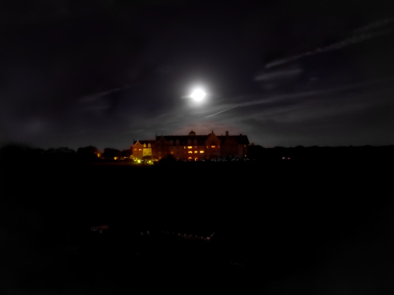 Super Moon Over The Manor