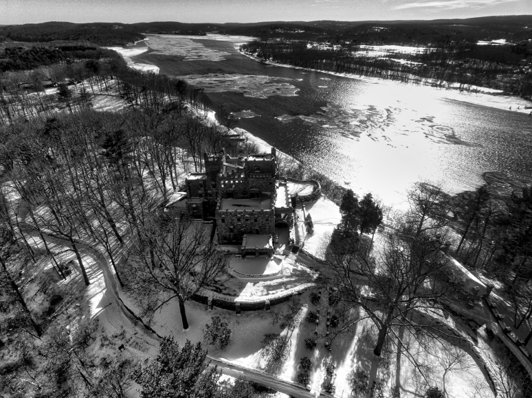 Gillette Castle In Black & White