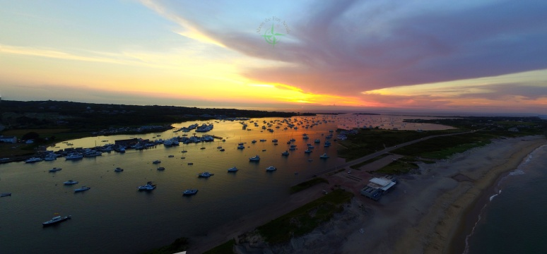 New Harbor Panoramic Sunset