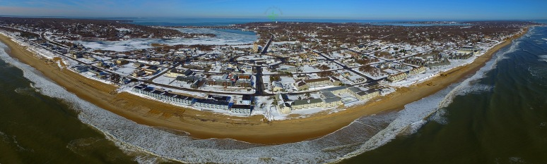 A Post-Storm Panoramic View Of Montauk Village
