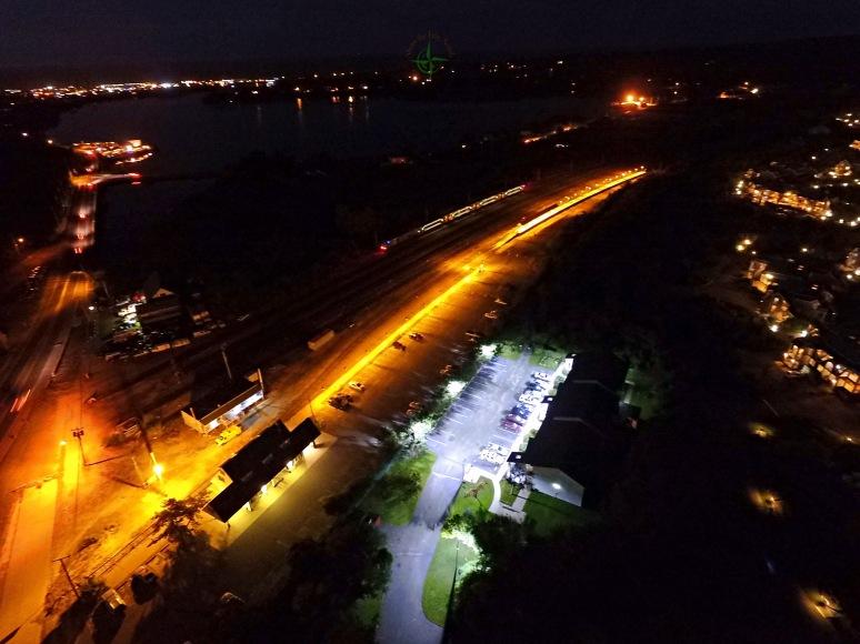 Montauk Train Station By Night