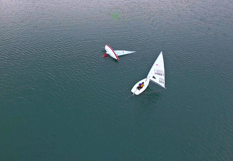 Winter Sailing On Three Mile Harbor