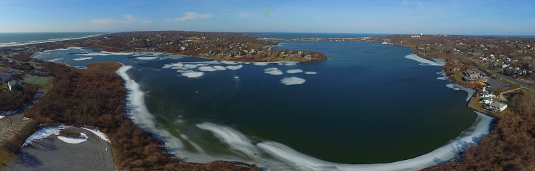 A Panoramic View Of Fort Pond , Montauk NY