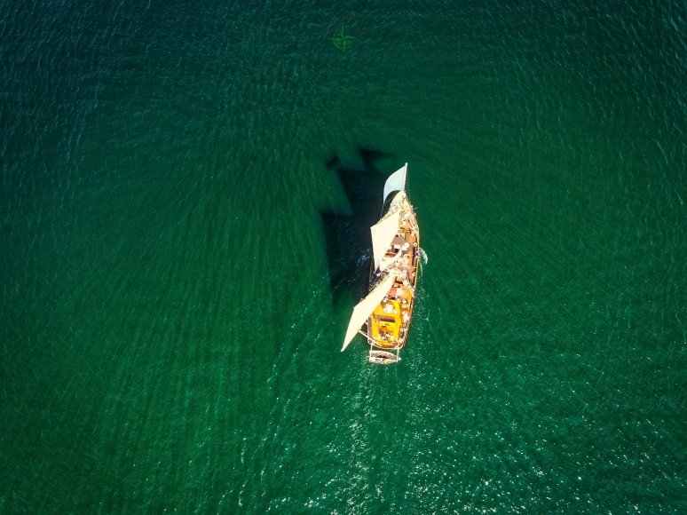 A Bird's-Eye View Of The Mystic Whaler