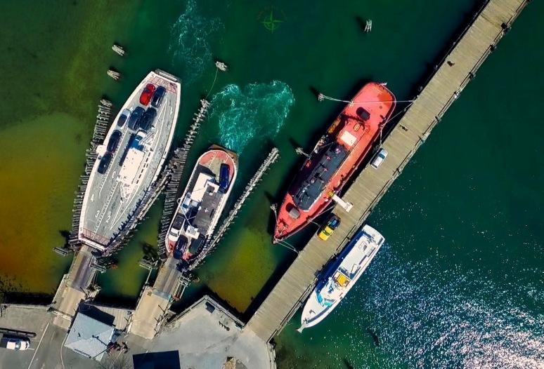 A Bird's-Eye: North Ferry Dock - Greenport , NY