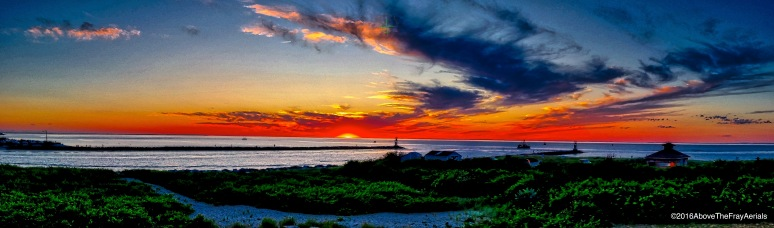A Panorama: Sunset @ Montauk Harbor