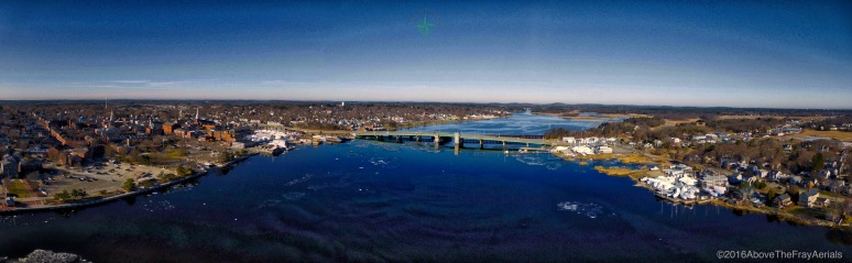 A Panoramic: Merrimac River - Newburyport , MA