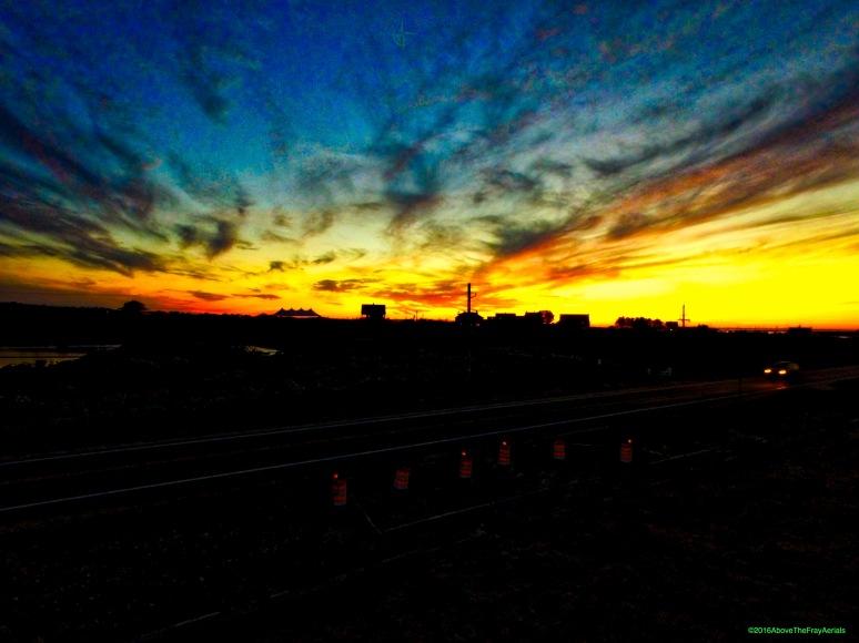 Sunset Silhouette: Sullivan House - Block Island , RI