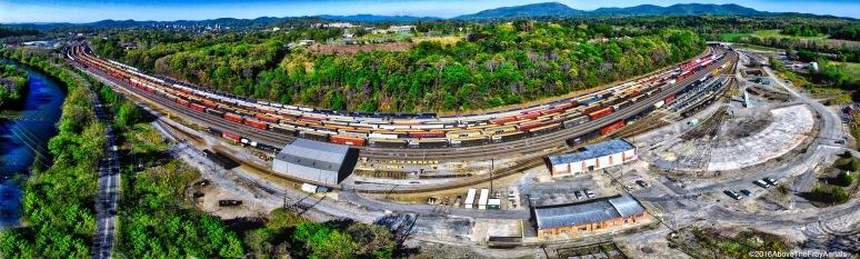 A Panorama: asheville Railyard