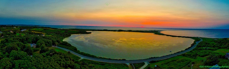 A Panorama: Sachem Pond Sunset - Block Island , RI
