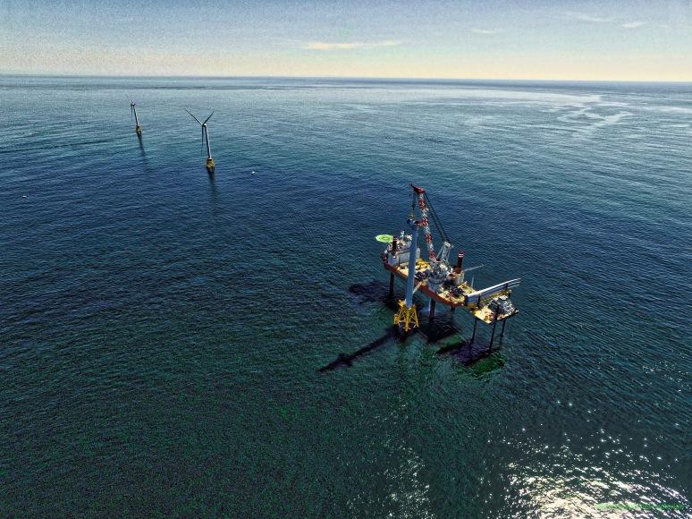 Setting Turbine 3 @ Block Island Wind