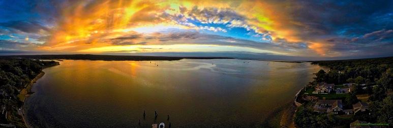 A Panorama: Harbor Sunset
