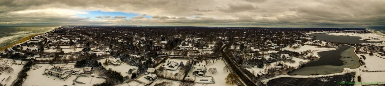 A Panorama: Lilly Pond Lane To Hook Pond