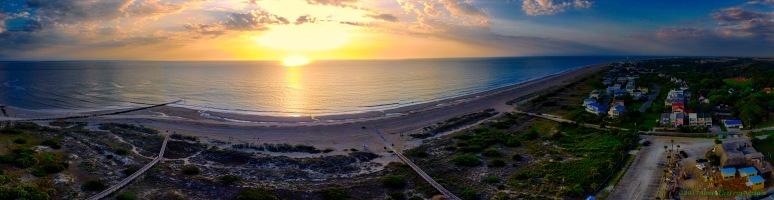 A Panorama: Tybee Island Beach